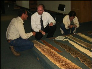 Ernie Cooper providing training on the identification of snakeskins to Wildlife inspectors in Leon, Mexico 2